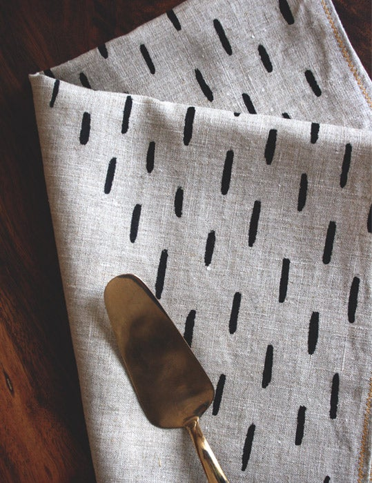 Image of Stripy Wings Tea Towel