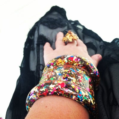Image of Wide Sparkle Bangles