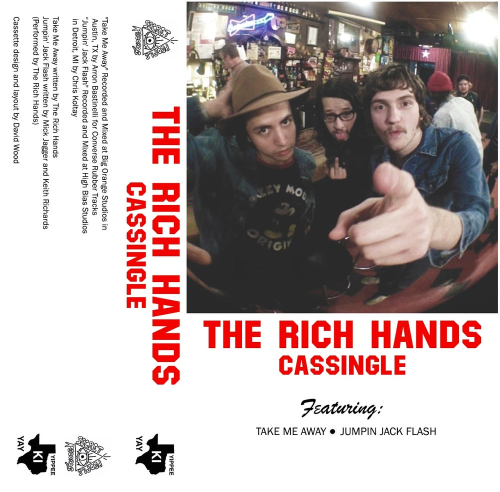 Image of The Rich Hands- Take Me Away/Jumpin' Jack Flash Cassingle