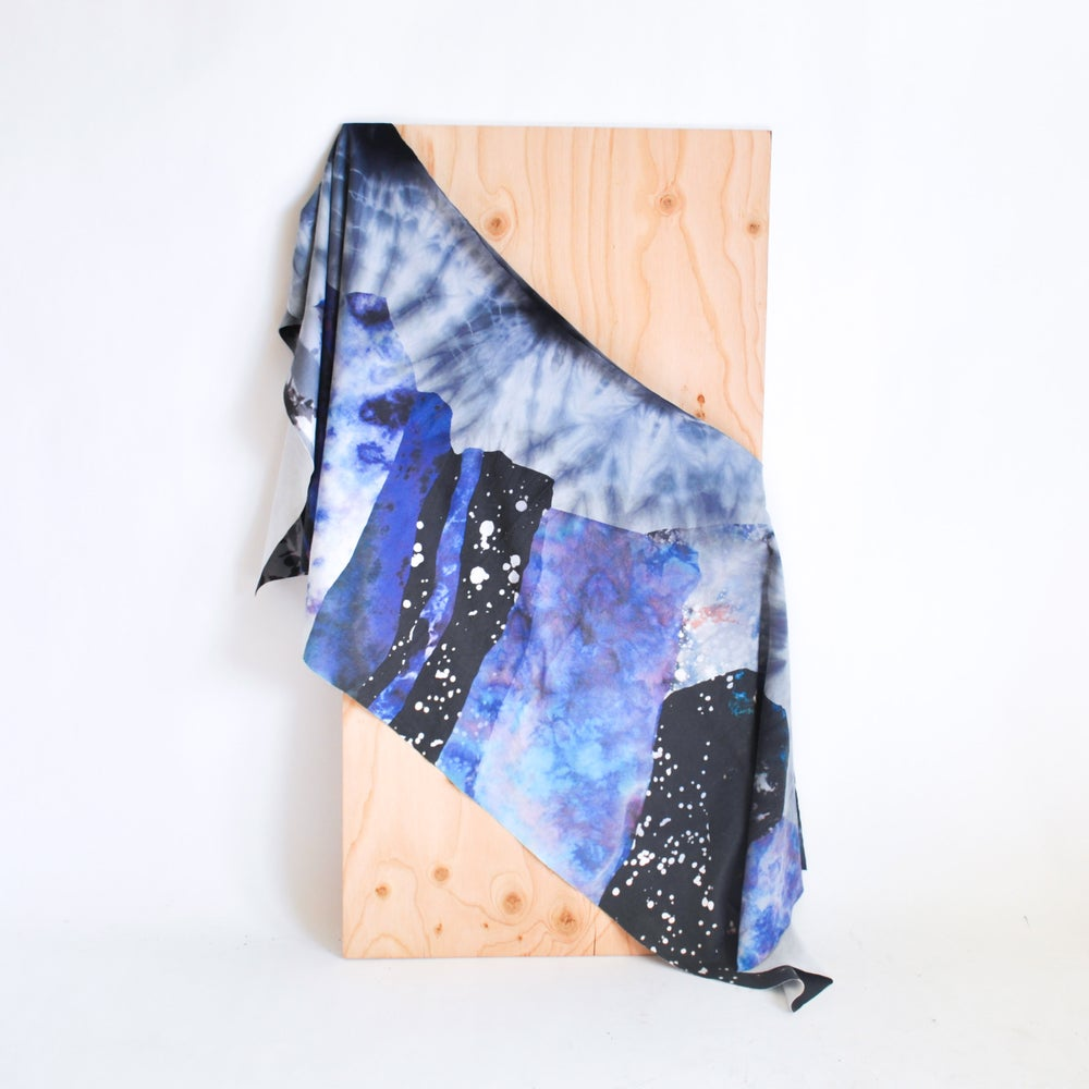Image of Mountain Top Dye Collage Scarf