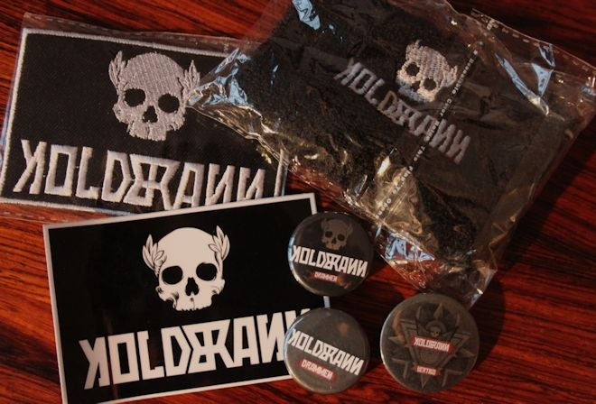 Image of BUNDLE: wristband + patch, sticker & buttons