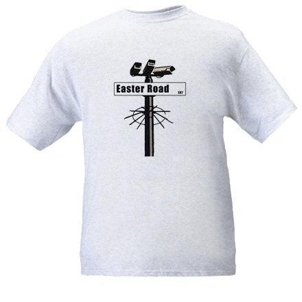 Image of Hibs, Hibernian, Easter Road Sign CCTV, Casuals, Football Hooligans T-shirt