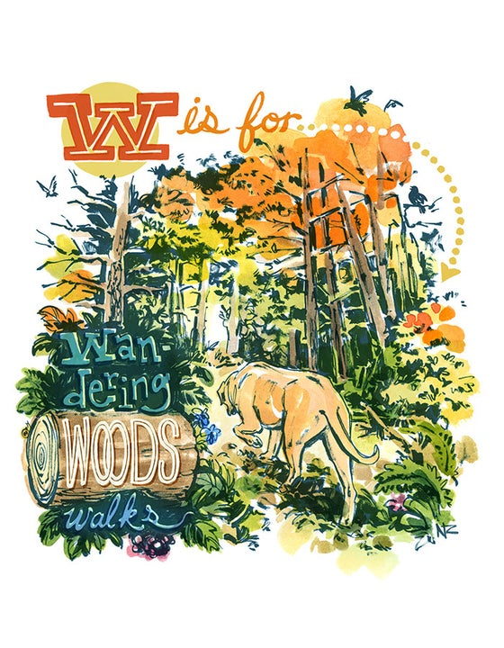 Image of Wandering Woods Walks - Giclée Print