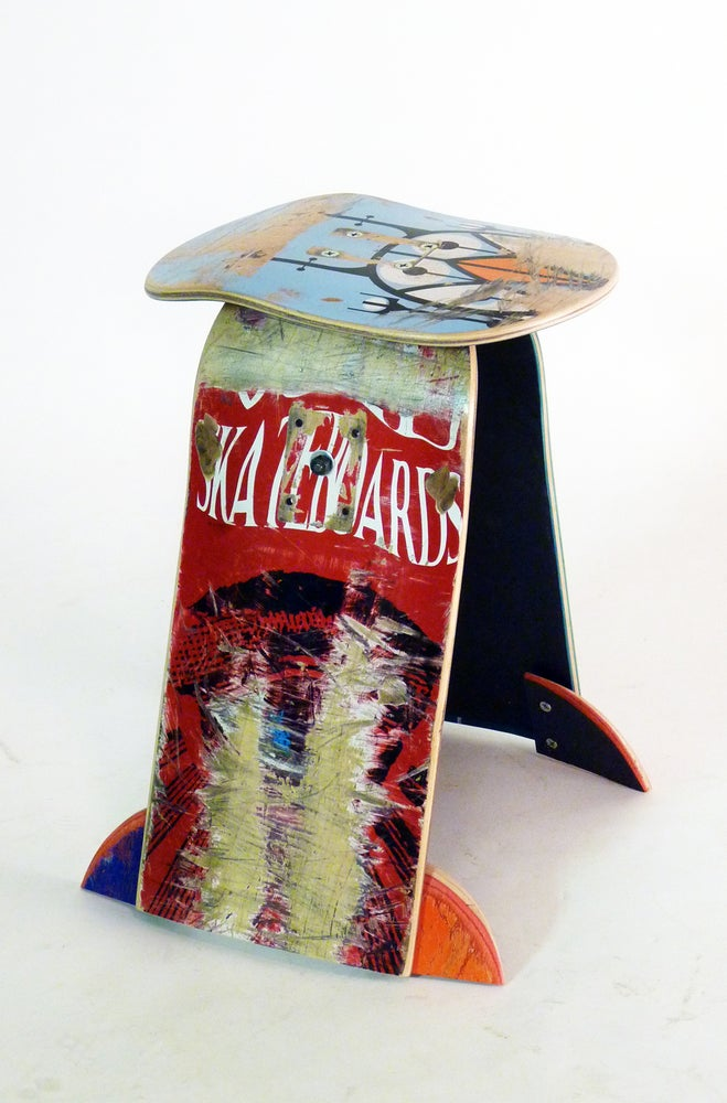 Image of Basic Skateboard Stool - SALE $99 Recycled Skateboard Stool by Deckstool