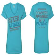 Image of Team Stack Women's V-Neck T-shirt