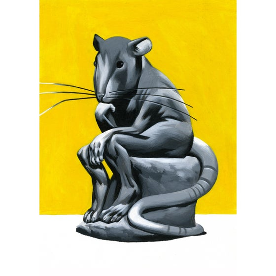 Image of Think Rat – Giclee Print