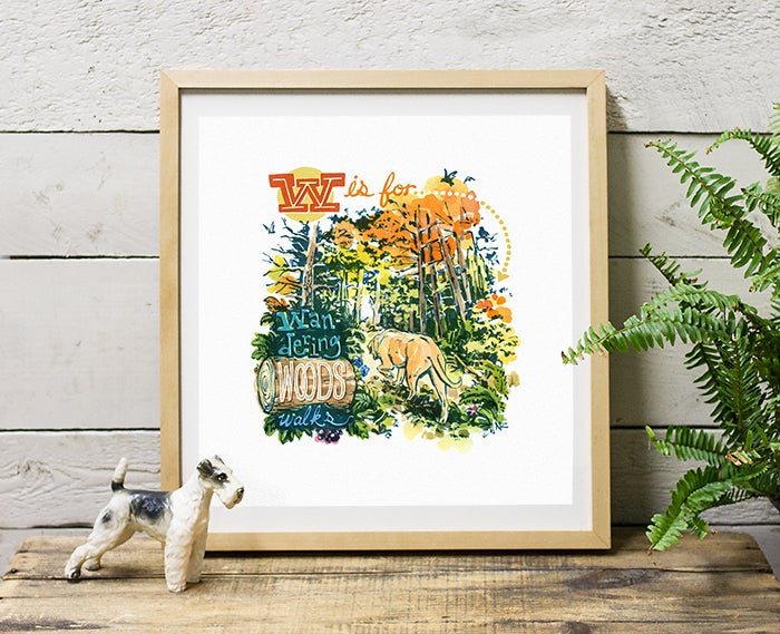 Image of Wandering Woods Walks - Giclée Print