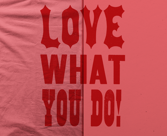 Image of Love What You Do Shirt & Letterpress Print Combo