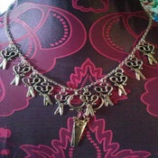 Image of Silver Coloured Large Scissor Charm Hairdresser Dressmaker Necklace