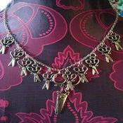 Image of Silver Coloured Large Scissor Charm Hairdresser Dressmaker Necklace