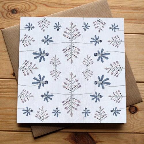 Image of Botanical Blues Card (single)