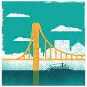 Image of City of Bridges Silkscreen Pittsburgh Art Print 1 - NEW!