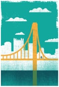 Image of Pittsburgh City of Bridges Silkscreen Art Print 2