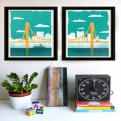 Image of Pittsburgh City of Bridges Diptych Art Print Set - NEW!