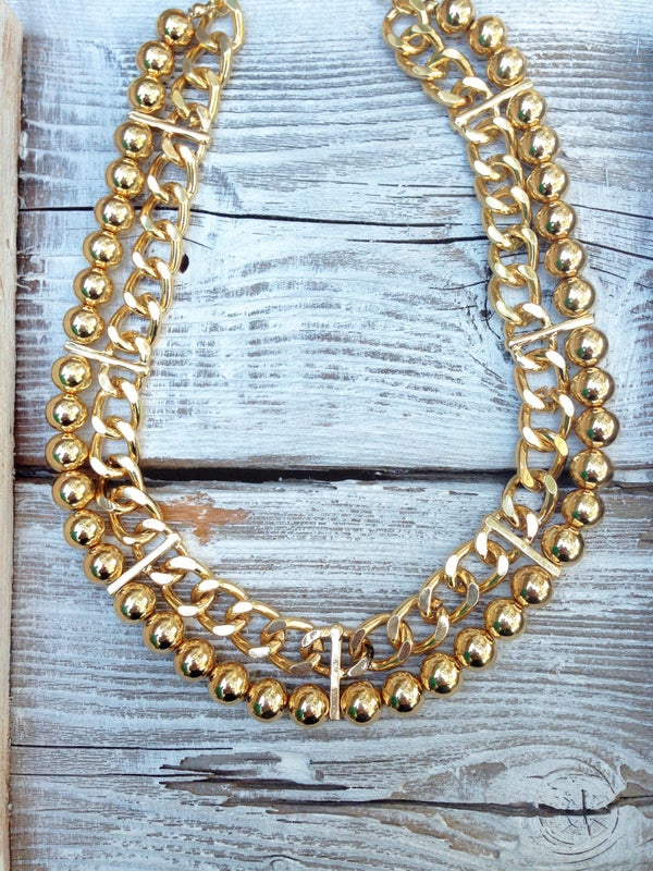 Image of Leah Bead & Chain Necklace