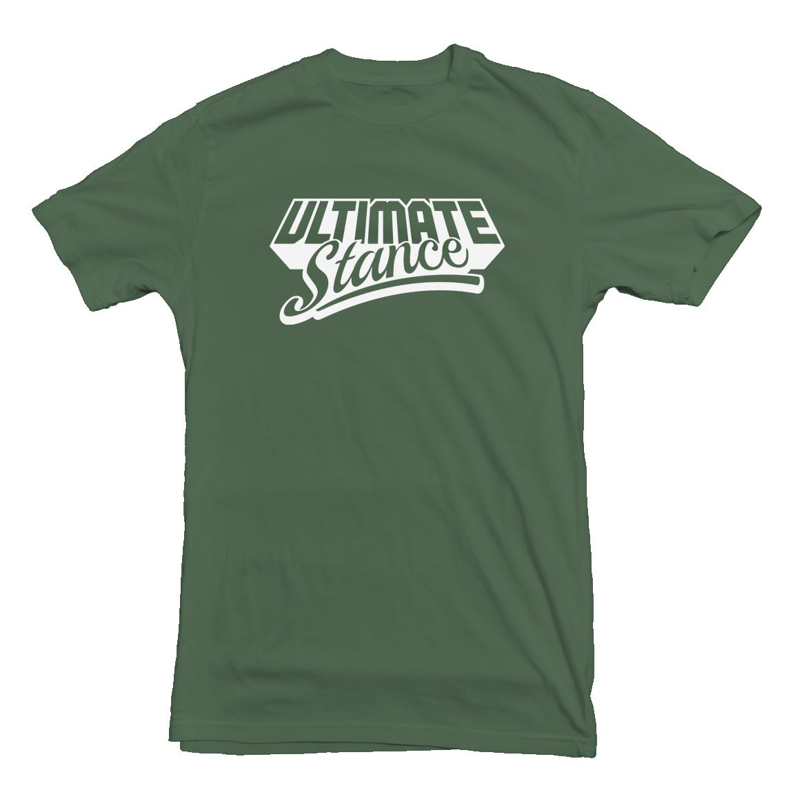 Image of Men's Ultimate Stance T-Shirt - Military Green with White Logo