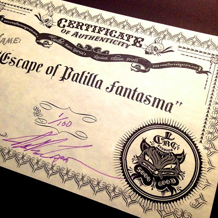 "Image of ""The Escape of Palilla Fantasma"" Mini Print"