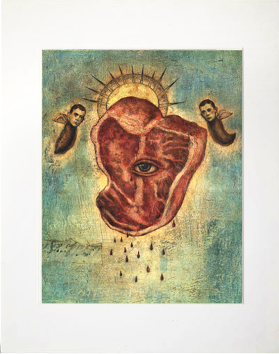 Image of Matted Print- Meat Intelligence