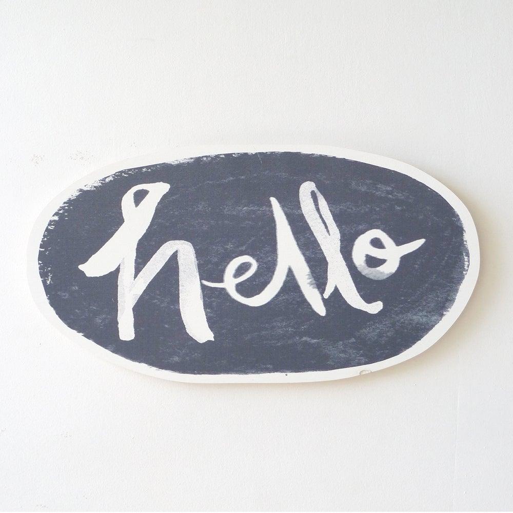Image of HELLO PLAY WALL HANGING (CHARCOAL)