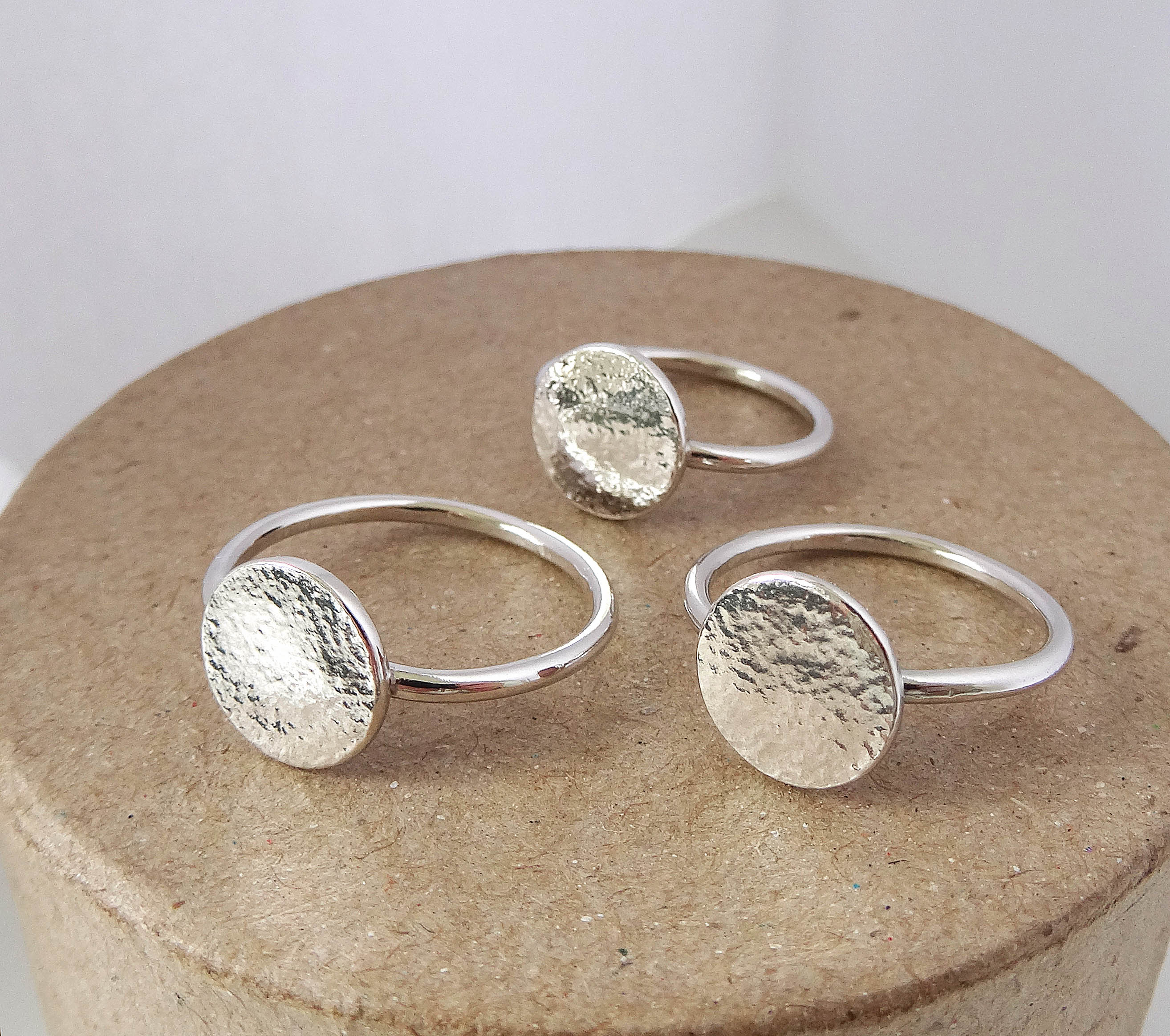 Disk Silvers: STERLING SILVER DISC RING