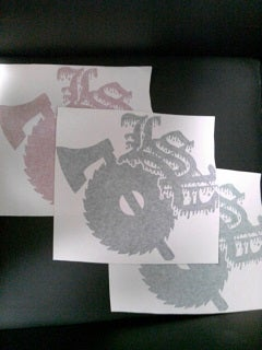 Image of LARGE ARTIST/LSP STICKERS