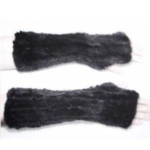 Image of Mink Fingerless Gloves Long *PRE SALE*