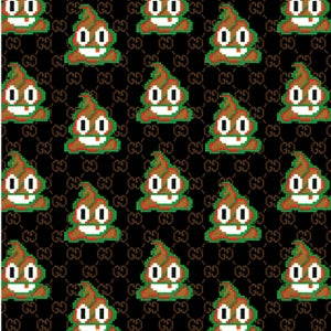 Image of Red Green Stripe Poo Scarf