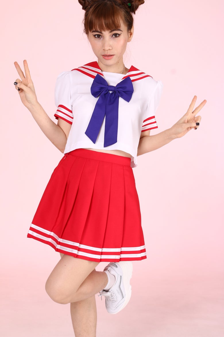 Image of 2 Weeks waiting- Sailor Mars Inspired 2 Piece Set