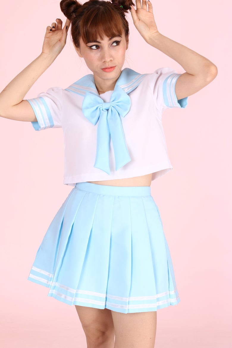 Image of  Sailor Moon Inspired 2 Piece Set in Baby Blue