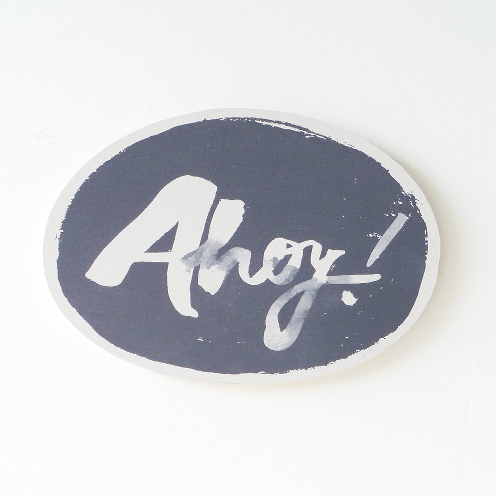 Image of AHOY PLY WALL HANGING (CHARCOAL)