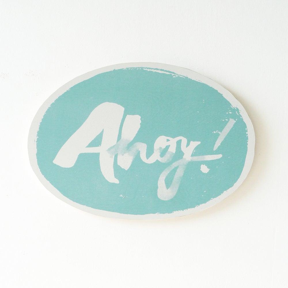 Image of AHOY PLY WALL HANGING (AQUA)