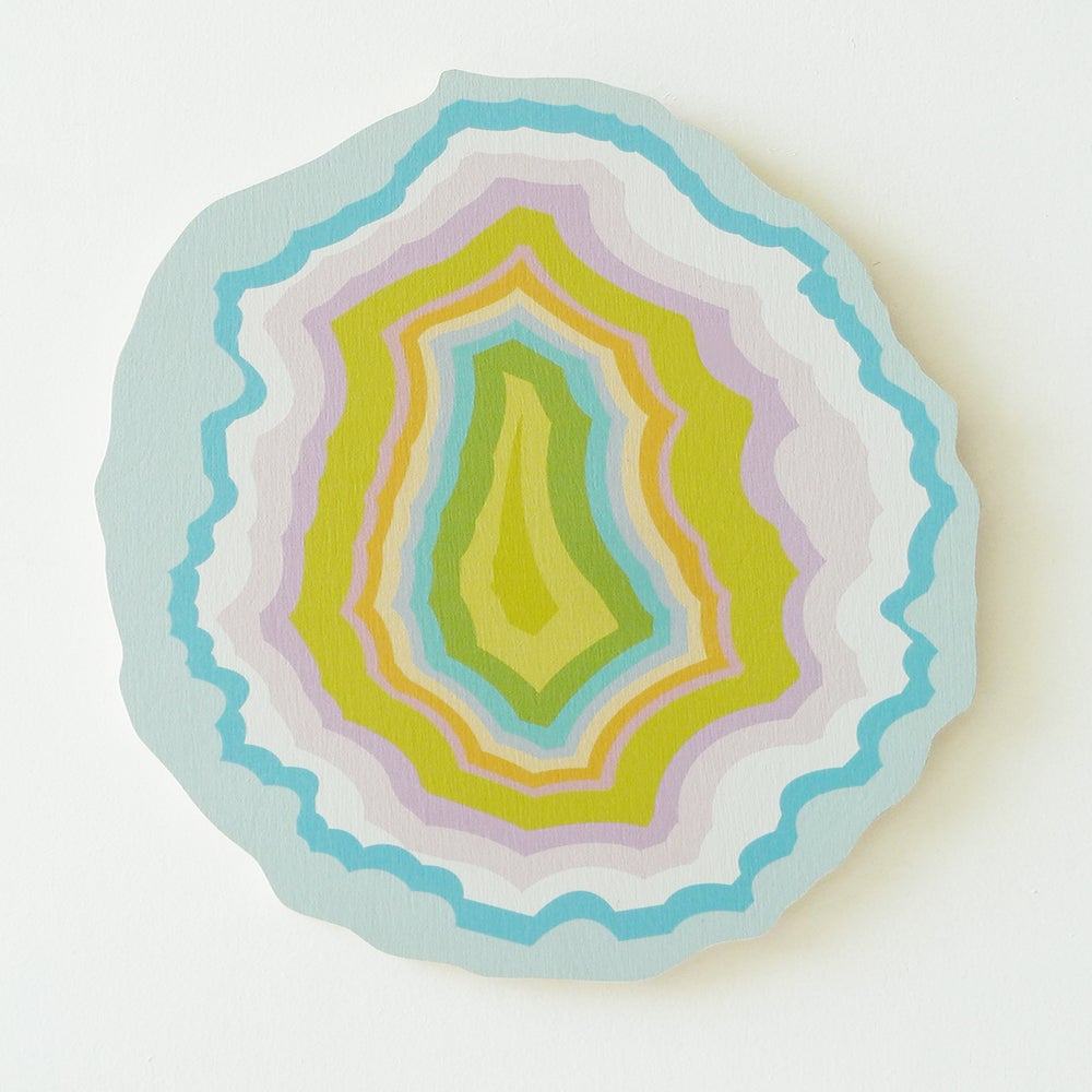 Image of PASTEL AGATE PLY WALL HANGING