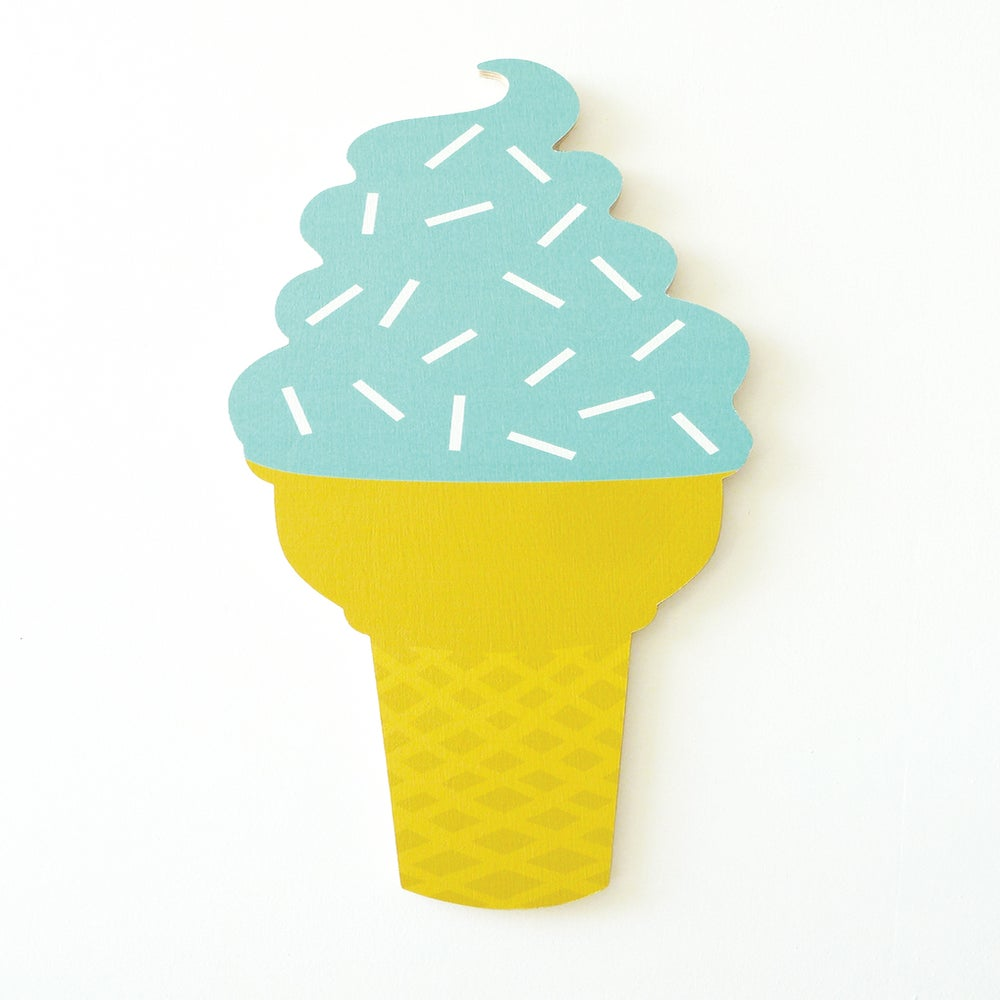 Image of ICECREAM PLY WALL HANGING (AQUA)