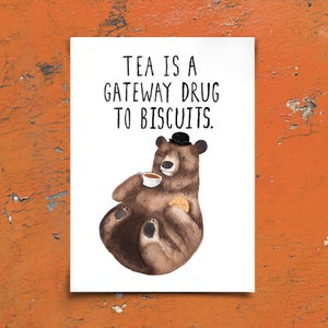 Image of BISCUIT BEAR - A3 Print