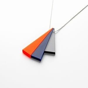 Image of Tutti Frutti Orange Navy Blue Grey Pendant