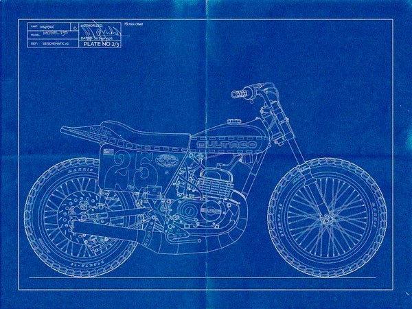 Image of Bultaco Astro Giclee blueprint