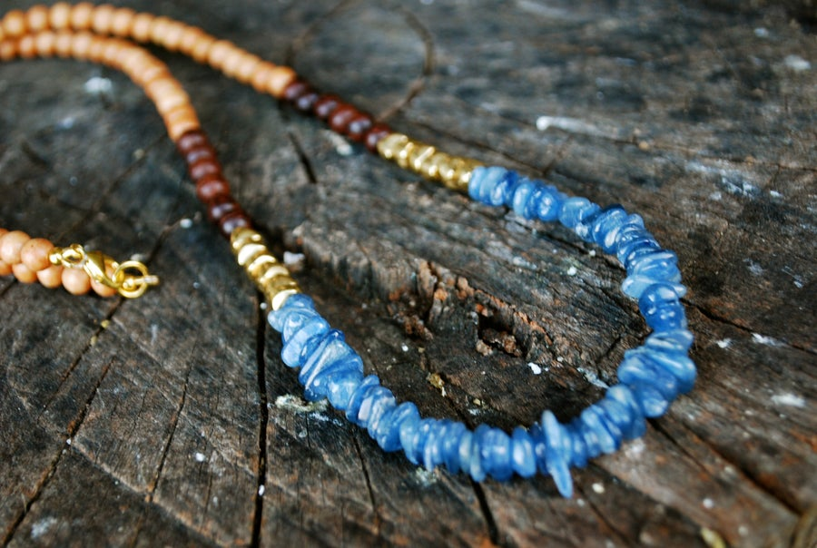Image of The Kyanite Nomad Necklace