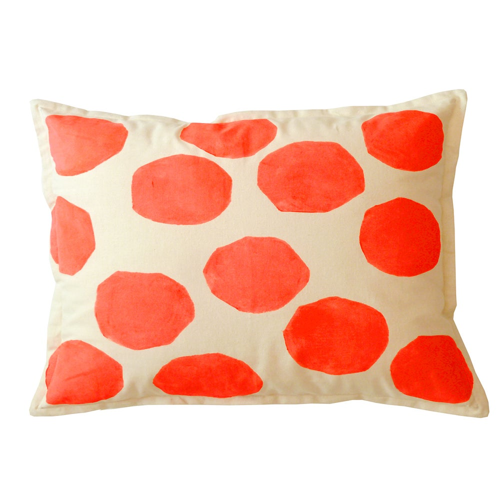 Image of FLURO RED SPOT CUSHION