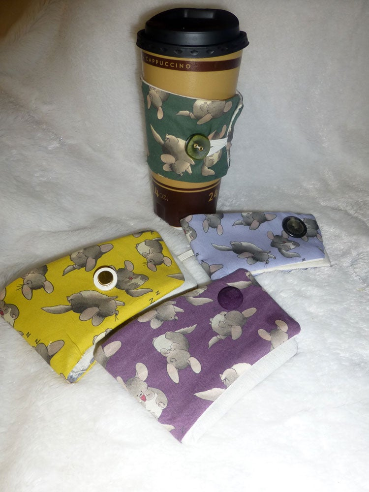 Image of Coffee Cozy, Chinchilla Fabric