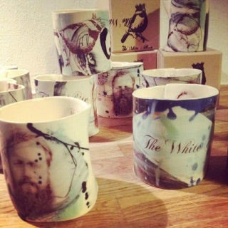 Image of The White Album Pottery Coffee mug