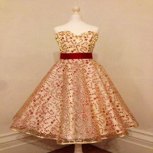 Image of Glitter Candy Canes Dress
