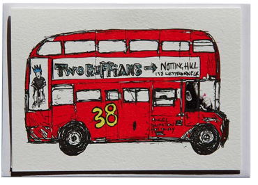 Image of My Routemaster Goes Faster Greeting Card