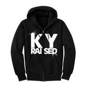 Image of KY Raised Black & White Zip Hoodie