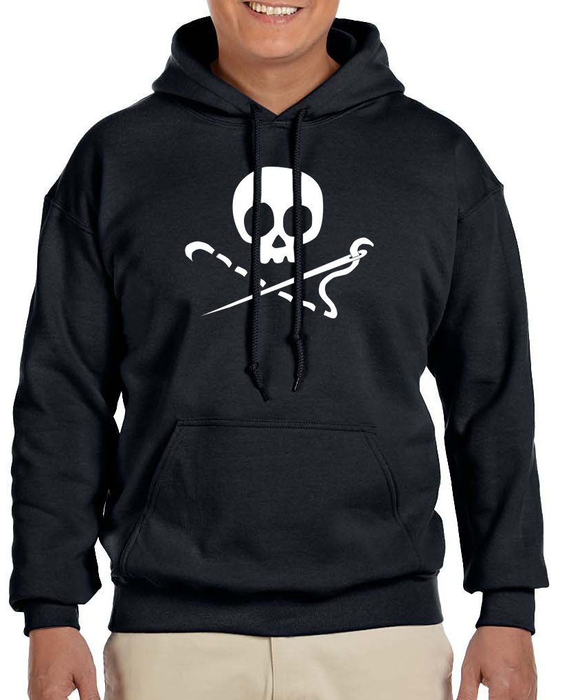 Image of Sewing Skull Heavy Hooded Sweatshirt