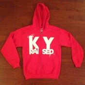 Image of KY Raised Red & White Zip Hoodie