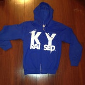Image of KY Raised KY Blue & White Zip Hoodie