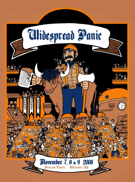 Image of WIDESPREAD PANIC @ RIVERSIDE THEATRE, WI - 2008
