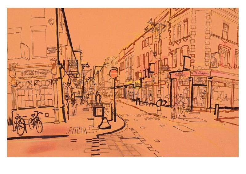 Image of Brick Lane - greetings card