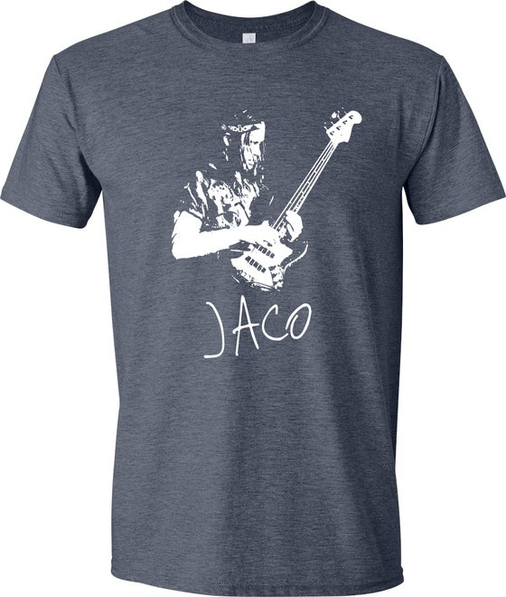 Image of Jaco Pastorius T-Shirt (Heather Navy)