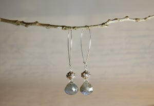 Image of Labradorite Heart Earrings